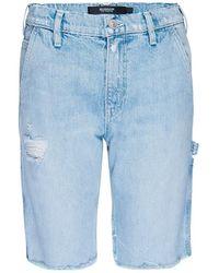 Hudson Jeans Carpenter Denim Bermuda Shorts - Blue