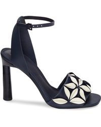 MERCEDES CASTILLO - Milee Ivory & Gold Sandals - Lyst