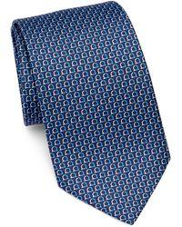 Ferragamo - Horseshoe Print Silk Tie - Lyst