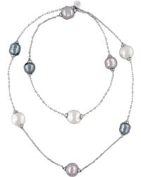 Majorica - 12-15mm Multi-color Baroque Pearl And Sterling Silver Necklace - Lyst