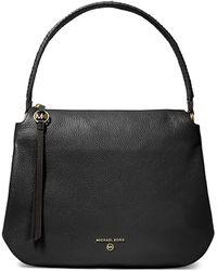 MICHAEL Michael Kors Grand Large Leather Hobo Bag - Black