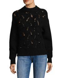 Rebecca Taylor - Embellished Wool-blend Jumper - Lyst