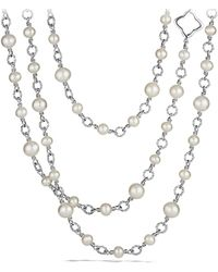 David Yurman - Chain Necklace With Pearls - Lyst