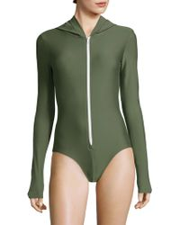 Cover   One-piece Hooded Swimsuit   Lyst