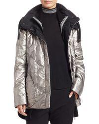 Akris Punto - Metallic Nylon Puffer Coat - Lyst