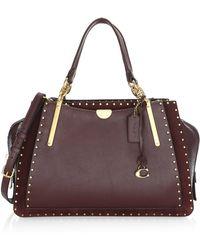 COACH - Dreamer Rivet Trim Leather Top Handle Bag - Lyst