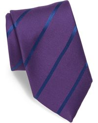 Charvet | Striped Silk & Linen Blend Tie | Lyst