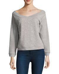 Rebecca Minkoff - Macey Pearl Sweatshirt - Lyst