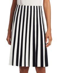 Akris Punto - Stripe Pleated Skirt - Lyst