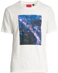 HUGO Dyskapper Graphic T-shirt - Natural