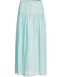 Marysia Swim Riviera Long Eyelet Skirt - Blue