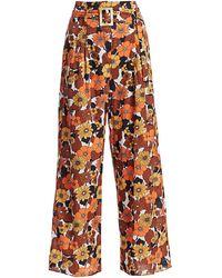 Dodo Bar Or Gigi Floral-print Pants - Orange