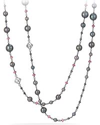 David Yurman | Oceanica Pearl And Bead Link Necklace With Grey Pearls And Hematine | Lyst
