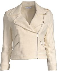 Likely Women's Alessia Cropped Moto Jacket - Ivory - Size Small - White