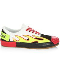 Palm Angels Flame Sneakers - Multicolor