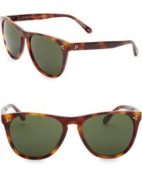 1fd27a0533 Lyst - Oliver Peoples Daddy 58mm Acetate Sunglasses in Green for Men