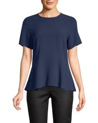 Eileen Fisher - Silk Jewel Peplum Top - Lyst