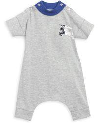 Burberry - Baby Boy's Logo Romper - Lyst