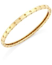Roberto Coin 18k Yellow Gold Symphony Dotted Hinged Bracelet - Metallic