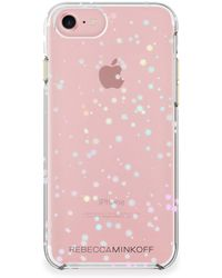 Rebecca Minkoff - Scattered Suns Holographic Foil Double Up Iphone 7 Case - Lyst