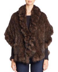 Saks Fifth Avenue - Ruffle-trim Sable Fur Stole - Lyst