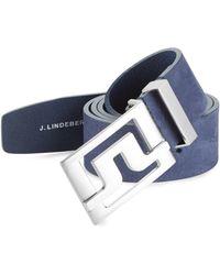 J.Lindeberg - Leather Belt - Lyst