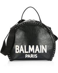 Balmain - Leather Logo Drum Shoulder Bag - Lyst