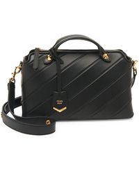 Fendi Medium By The Way Leather Satchel - Black