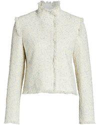 Akris Punto Fringe-trimmed Cotton Tweed Jacket - Natural