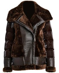 Dawn Levy Mel Leather Combo Jacket - Brown