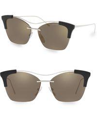 Prada - 57mm Illusion Cat Eye Sunglasses - Lyst