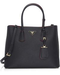 Prada   Saffiano Cuir Large Double Bag   Lyst