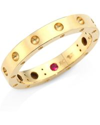 Roberto Coin - Pois Moi 18k Yellow Gold Band Ring - Lyst