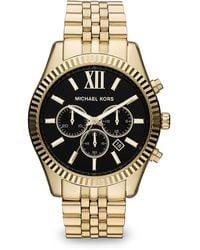 Michael Kors Lexington Chronograph Watch - Metallic