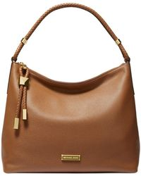 Michael Kors Bedford Medium Pocket Tote Bag Vanilla/acorn - Natural