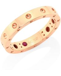 Roberto Coin - Pois Moi 18k Rose Gold Band Ring - Lyst