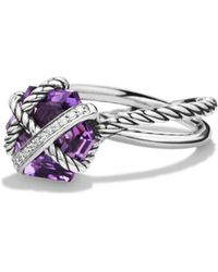 David Yurman - Cable Wrap Ring With Amethyst And Diamonds - Lyst