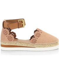 13aab6c2069 See By Chloé - Floral Laser Cut Ankle-strap Espadrilles - Lyst