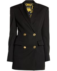 Versace Double-breasted Blazer - Black