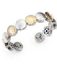 John Hardy Palu 18k Yellow Gold & Sterling Silver Dot Cuff Bracelet - Metallic