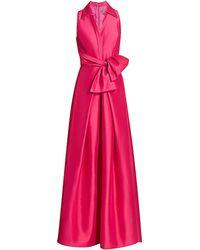THEIA Zibeline Shirt Ball Gown - Pink