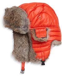 Crown Cap - Puffle Rabbit Fur-trimmed Trapper Hat - Lyst