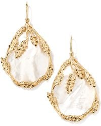 Aurelie Bidermann | Francoise Mother-of-pearl Drop Earrings | Lyst