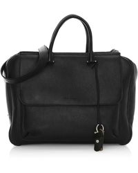 Ferragamo Tornabouni Cervo Leather Duffle Bag - Black