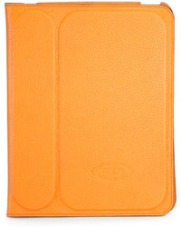 Tod's - Stamped Leather Case For Ipad 2 - Lyst