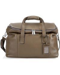 Emporio Armani - Leather Travel Bag - Lyst