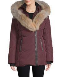 Mackage - Fur Trimmed Down Jacket - Lyst