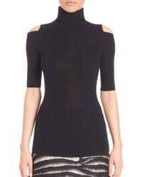 Zoe Jordan - Perey Wool & Cashmere Cold-shoulder Turtleneck Jumper - Lyst