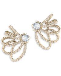 Alexis Bittar - Crystal Lace Orbiting Goldtone Post Earrings - Lyst