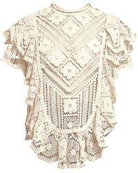 Isabel Marant Zanios Seaside Crochet Top - Natural